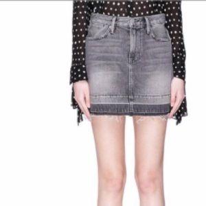 Frame Rigid Re-Release Mini Denim Skirt
